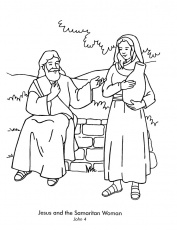 woman at the well coloring pages