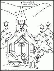 FREE Printable Christmas Coloring Pages - Religious