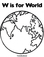 WORLD GLOBE Colouring Pages