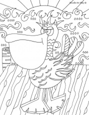 Bird Coloring Pages Doodle Art Alley | Printable
