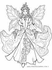adult coloring page fairy