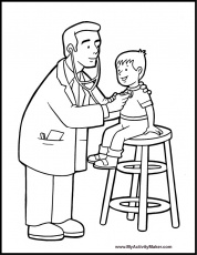 health coloring pages for kids