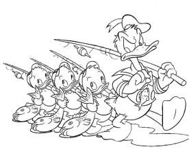Donald Duck Coloring Pages - Free Printable Pictures Coloring