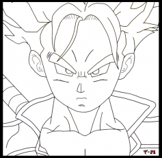 SSJ Trunks - DBZ Kai Lineart by Toxic-Mario on deviantART