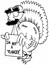 Funny Turkey Thanksgiving Coloring Pages | Laptopezine.