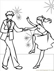 Coloring Pages Swing Ink (Entertainment > Dancing) - free