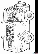 mystery machine coloring pages