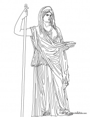 Hera-Greek Goddess & Gods Coloring Page | Coloring Pages of Epicness…