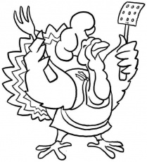 Turkey Coloring Pages and Book | UniqueColoringPages