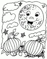 Coloring Pages Of Stars And Moon Coloring Part 2014 | Sticky Pictures