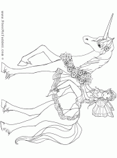fairy and unicorn Colouring Pages