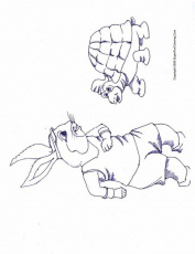 Tortoise And The Hare Coloring Page For Kids | 99coloring.com
