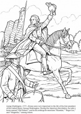 coloring page george washington