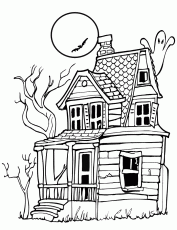 Search Results » Haunted House Coloring Page