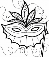 Mardi Gras Mask Coloring Pages For Kids | Mardi gras