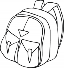 Coloring Pages Backpack 09 Education School Free Printable