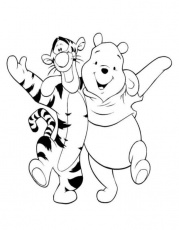 tiger and pooh coloring pages