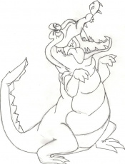 Peter Pan Coloring Pages peter pan crocodile coloring pages – Kids