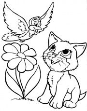 Coloring Pages Of Puppies And Kittens 566 | Free Printable