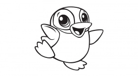 coloring pages of baby penguins : Printable Coloring Sheet ~ Anbu