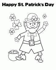 Happy St Patrick's Day Printable & Coloring Book
