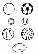 Coloring page ball sports - img 10386.