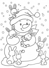 Free Preschool Coloring Pages Free Printable Snowman Coloring