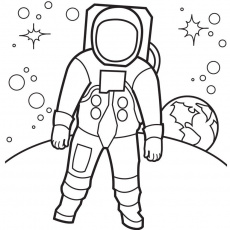 space suit Colouring Pages