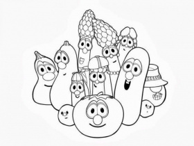 Veggie Tales Coloring Pages Free Coloring Pages Amp Pictures