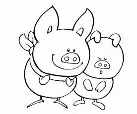 cartoon pig coloring pages