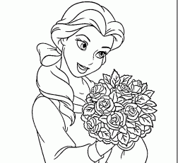 belle coloring sheet