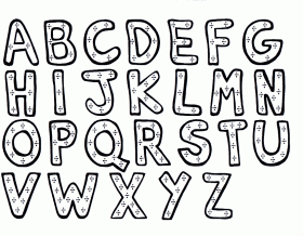 Search Results » Printable Alphabet Coloring Pages