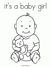 Gallery For > Its A Girl Coloring Pages
