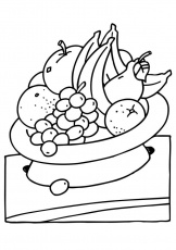 name of the fruits Colouring Pages
