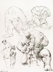 drawings of the hulk