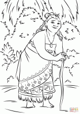 Gramma Tala from Moana coloring page | Free Printable Coloring Pages