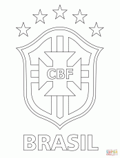Logo of Brazilian Football Confederation coloring page | Free ...