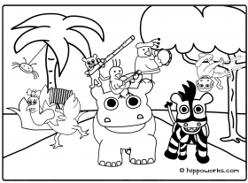 Jungle Coloring Page - Coloring Pages for Kids and for Adults