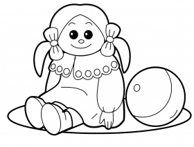 Doll Coloring Page - Auromas.com