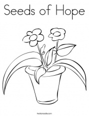 Seeds of Hope Coloring Page - Twisty Noodle