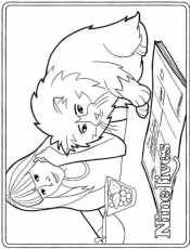 Nine Lives Coloring Page
