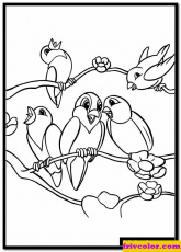 Bambi Singing Love Song For Birds Pages - Friv Free Coloring Pages For  Children - Love Coloring Pages