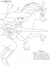 Raya and the Last Dragon coloring pages - 50 Free coloring pages