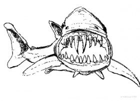 Hideous Long And Sharp Jaws Coloring Pages : Best Place to Color