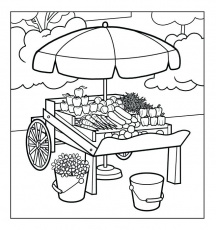 The best free Market coloring page images. Download from 181 free coloring  pages of Market at GetDrawings