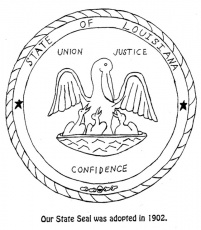 Magnolia blossom lousiana state flower coloring page for Arizona state seal coloring page