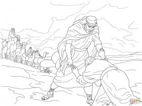 Esau Forgives Jacob coloring page | Free Printable Coloring Pages