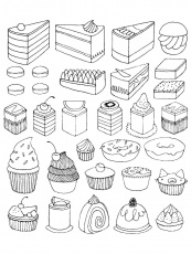 Cup Cake - Coloring Pages for adults