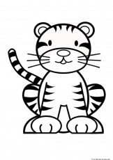 Baby Tiger Cartoon Coloring Pages - Coloring Pages For All Ages