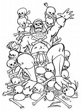 Masters of the Universe He-Man Skeletor Motu Vintage Coloring ...